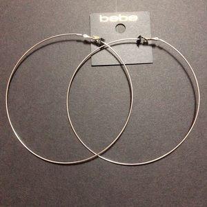 Silver oversized hoop earrings